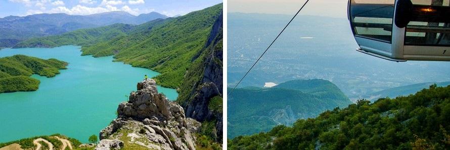 hiking around tirana in albania
