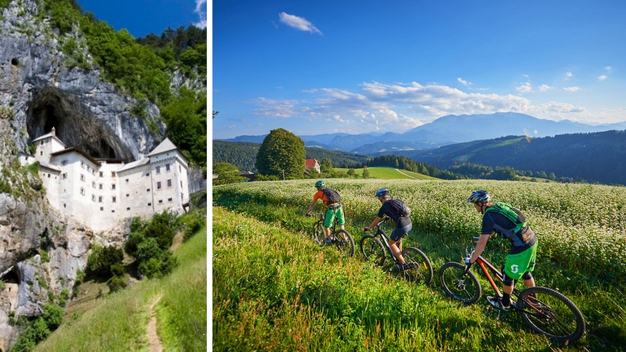 Slovenia Bike Tour - Predjama Castle