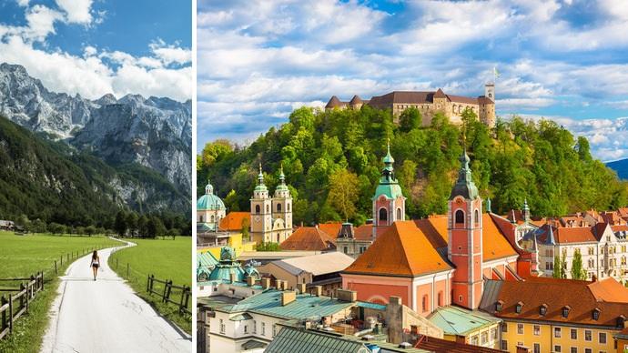 Vale Logarska, um dos vales alpinos mais bonitos & Castelo de Liubliana