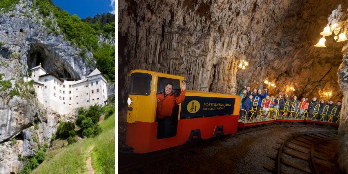 Castillo de Predjama y Cueva de Postojna, Postojna cave, train, www.slovenia.info, Iztok Medija-