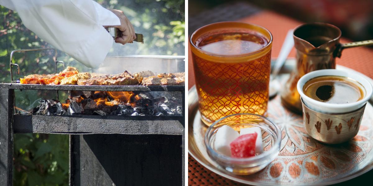 Gastronomía y café en Mostar