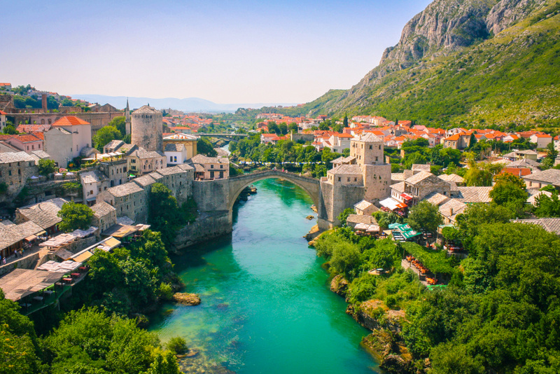 El puente de Mostar en Bosnia-Ekorna