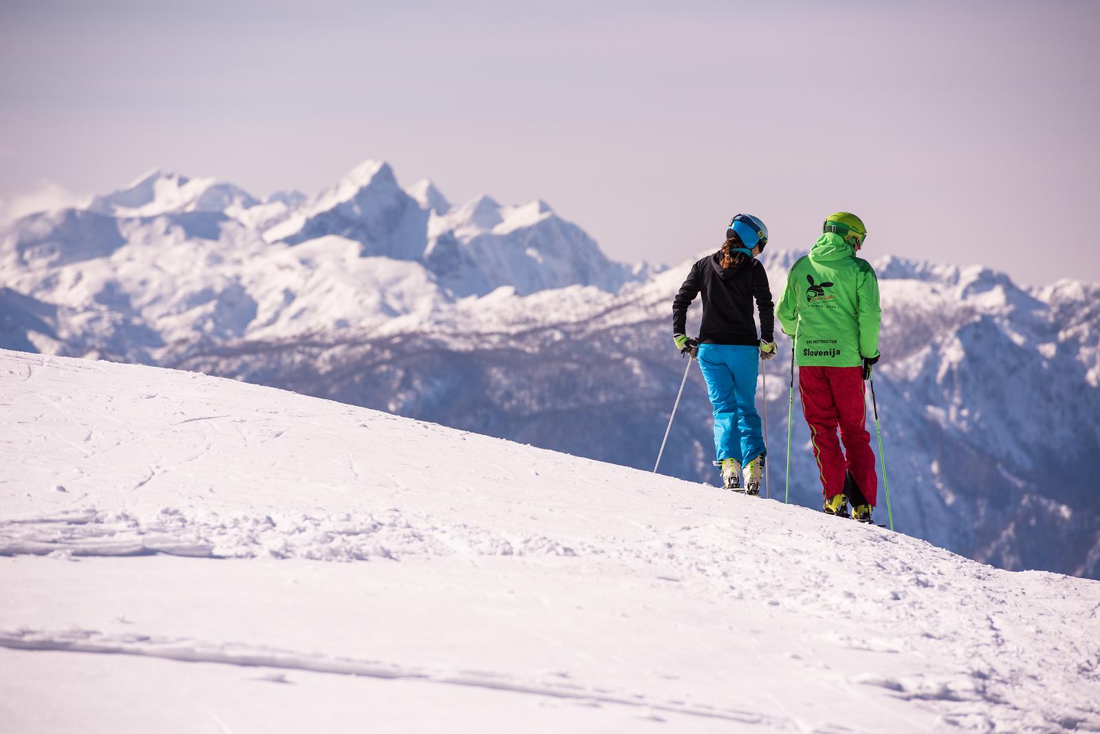 Esquiar en Eslovenia; foto: Iztok Medja; vir: www.slovenia.info