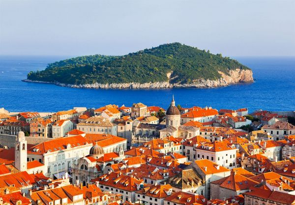 Isla de Lokrum-localización de Juego de Tronos en Croacia