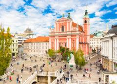 Iglesia Franciscana & Plaza de Preseren, Liubliana