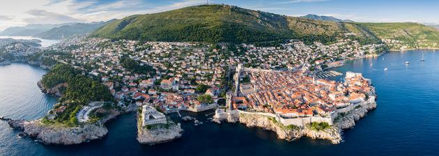 Vista panorâmica de Dubrovnik