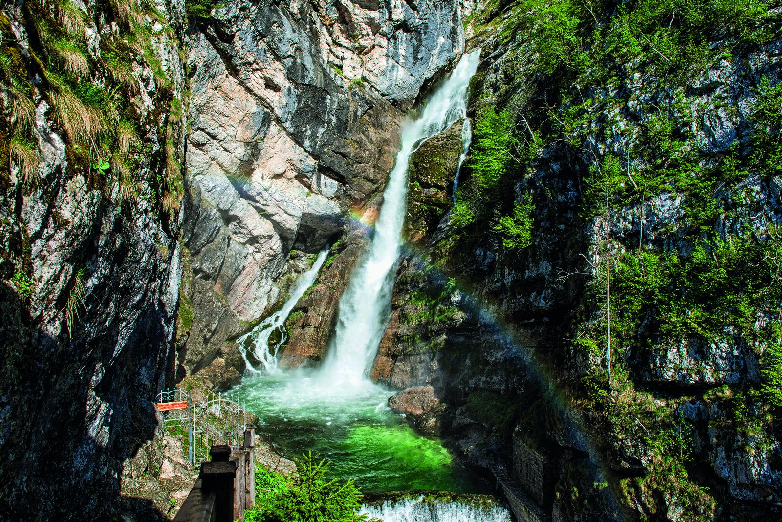 Cascada Savica; foto: Mojca Odar-Turizem Bohinj; vir:www.slovenia.info