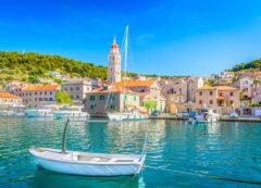 Pucisca en la isla de Brac, Croacia