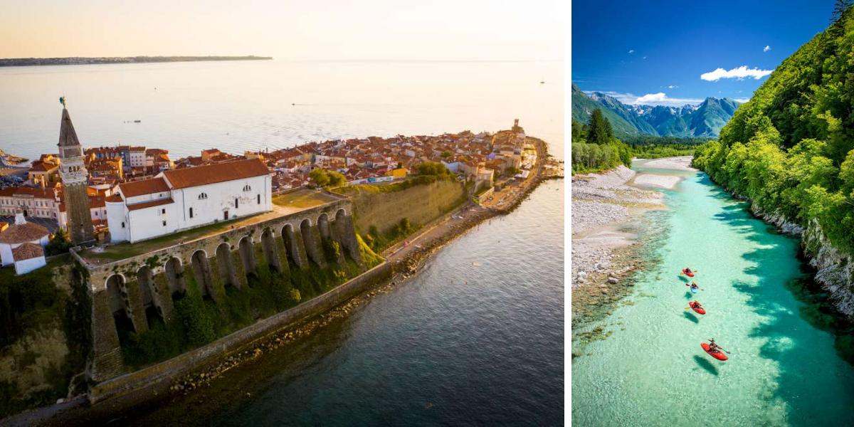 luna de miel en Piran y rio Soča en Eslovenia