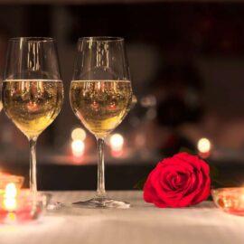 cena romántica en Eslovenia