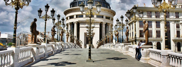 circuito por los Balcanes - Centro de Skopie, Viaje por Macedonia