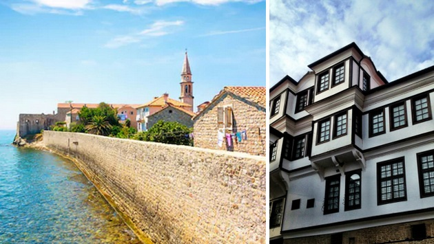Budva & arquitectura típica de Ohrid