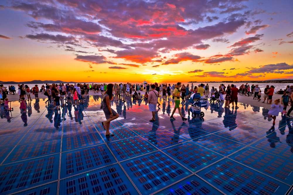 el saludo al sol - algo para ver en Zadar