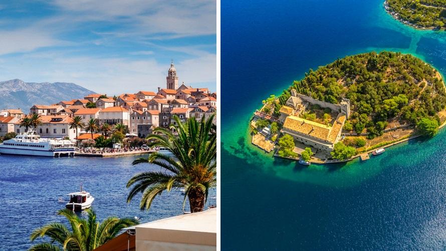 Crucero por las islas de Croacia cerca de Dubrovnik