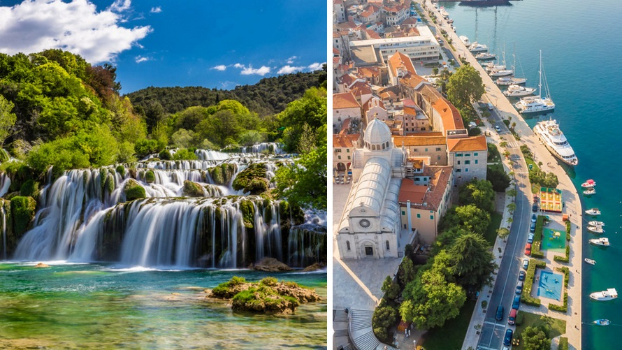 Islas de Croacia cerca de Split - Sibenik