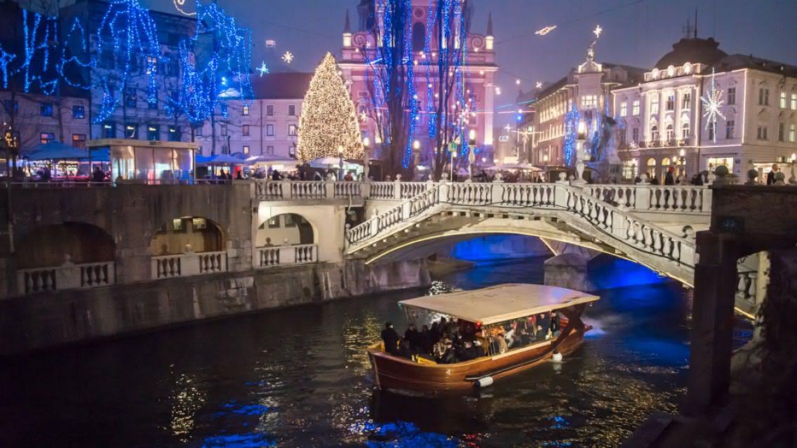 Mercado navideño en Liubliana