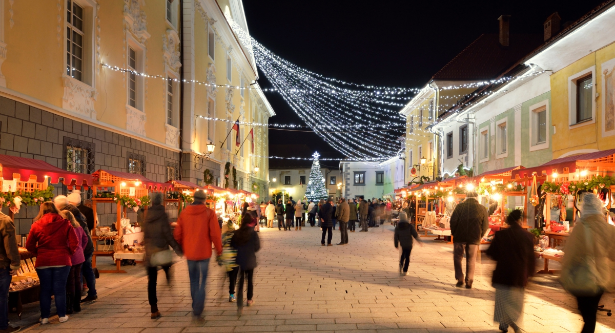 Mercado navideño en Radovljica