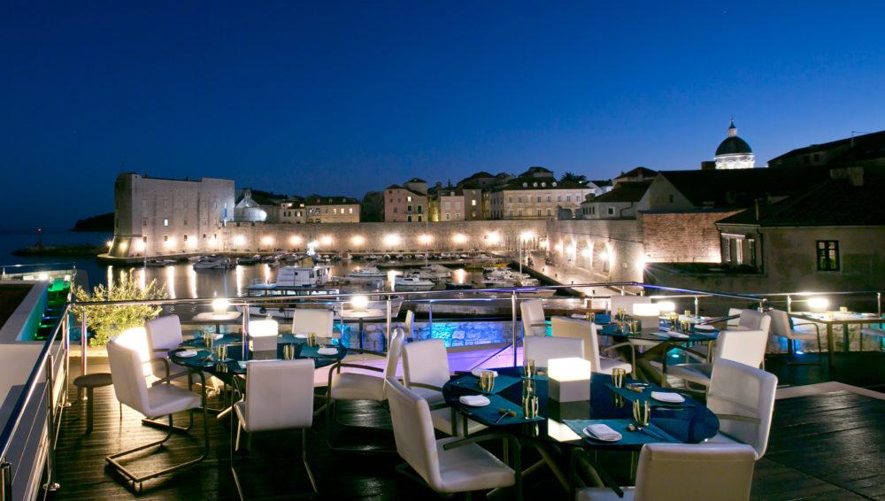 El lujo en Croacia - restaurante 360° en Dubrovnik