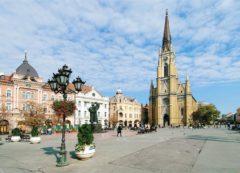 La plaza principal de Novi Sad