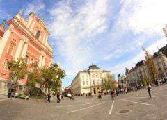 La plaza principal de Ljubljana