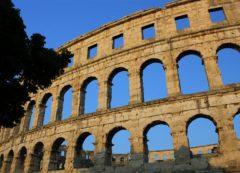 El amfiteatro en Pula