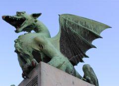 El dragón que saluda a los visitantes de Ljubljana