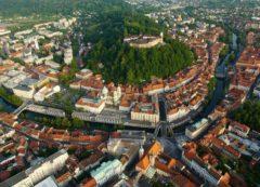 El casco antiguo de Ljubljana y el río Ljubljanica