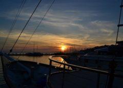 La puesta del sol en Dalmacia