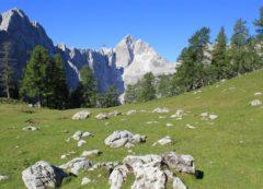 Vista desde el pico de Sleme hacia Jalovec