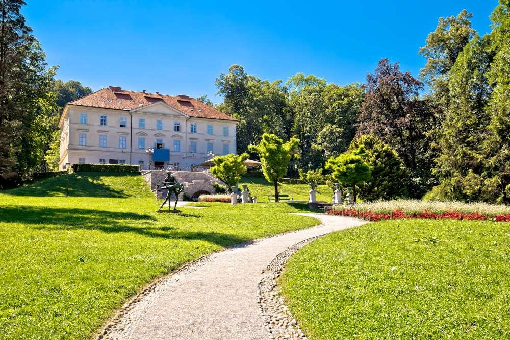 castillo en parque Tivoli Liubliana
