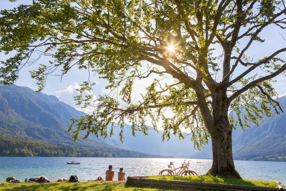el lago Bohinj, el más grande de Eslovenia