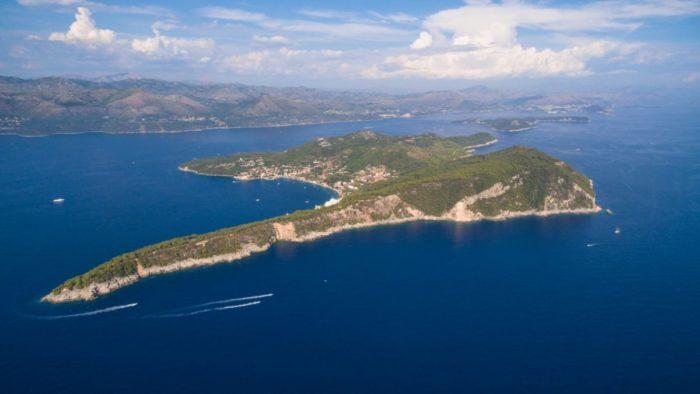 Isla de Lopud cerca de Dubrovnik