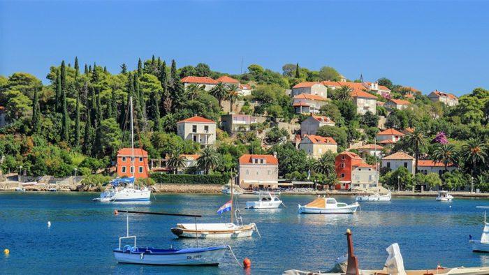 Isla de Kolocep cerca de Dubrovnik
