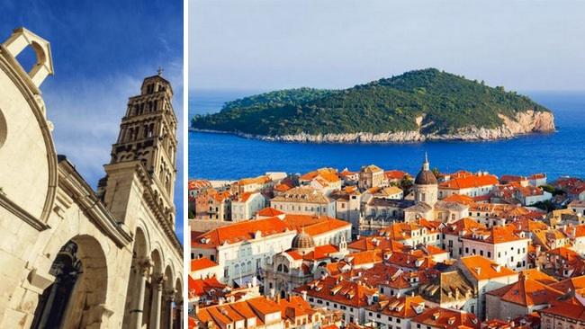 Les villes historique en Croatie Split et Dubrovnik