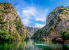 Cañón de Matka cerca de Skopie, Macedonia del Norte