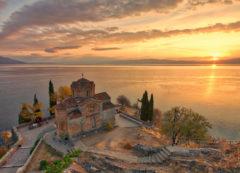 La Iglesia de San Kaneo en Ohrid, Macedonia del Norte