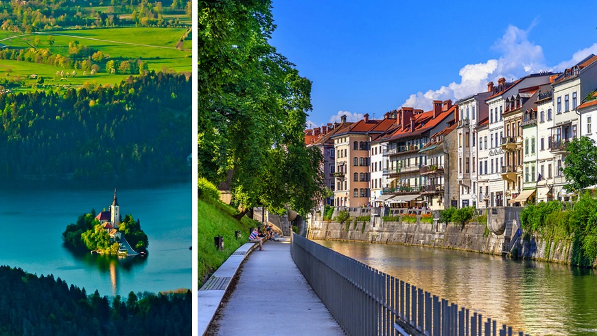 holidays in Slovenia: Bled and Ljubljana
