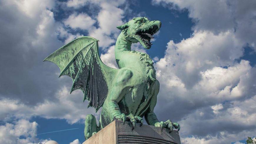 5 cosas que ver en Ljubljana: El dragon de Ljubljana, Eslovenia