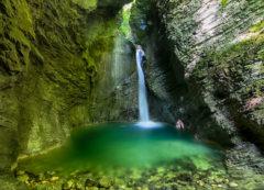Cascada de Kozjak, Eslovenia