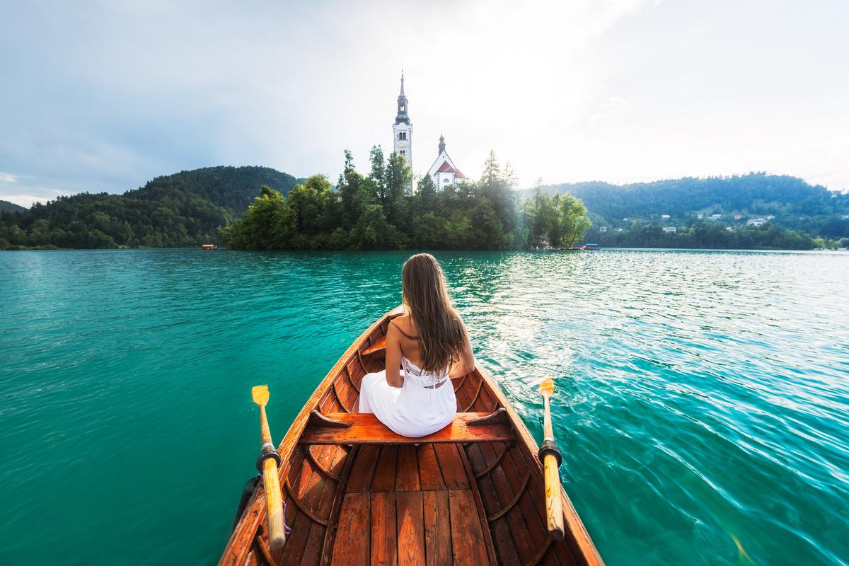 Paseo por el lago Bled, Eslovenia