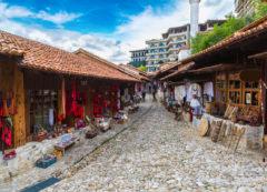 El bazar de Kruja, Albania