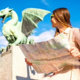 Visita Liubliana, Eslovenia - puente de dragones