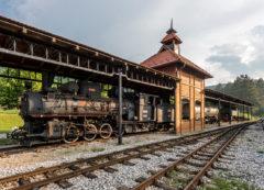 """Paseo en un tren a vapor """"Sargan Eight"""" en Mokra Gora, Serbia"""