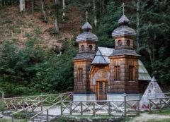 Capilla rusa en el paso Vrsic, Eslovenia