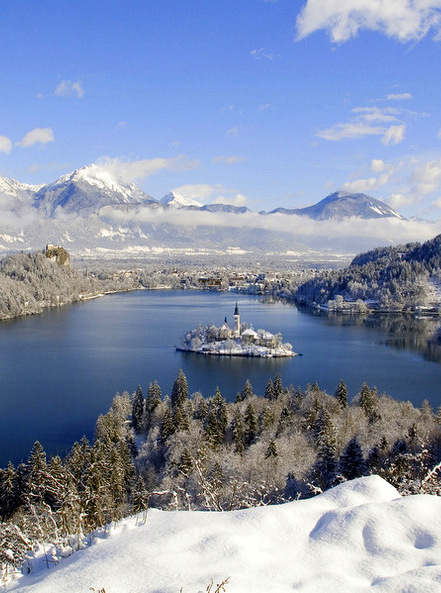 Bled in Winter, Slovenia
