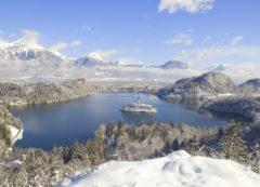 Lago de Bled en invierno