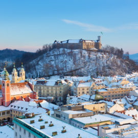 Eslovenia en invierno: Castillo de Liubliana