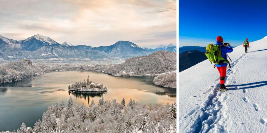 Viagem de inverno à Eslovênia e Croácia