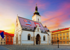 La Iglesia de San Marcos en Zagreb, Croacia