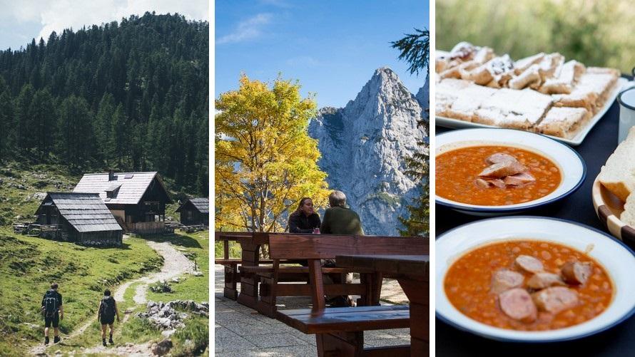 Senderismo en los Alpes Julianos - refugios de montaña